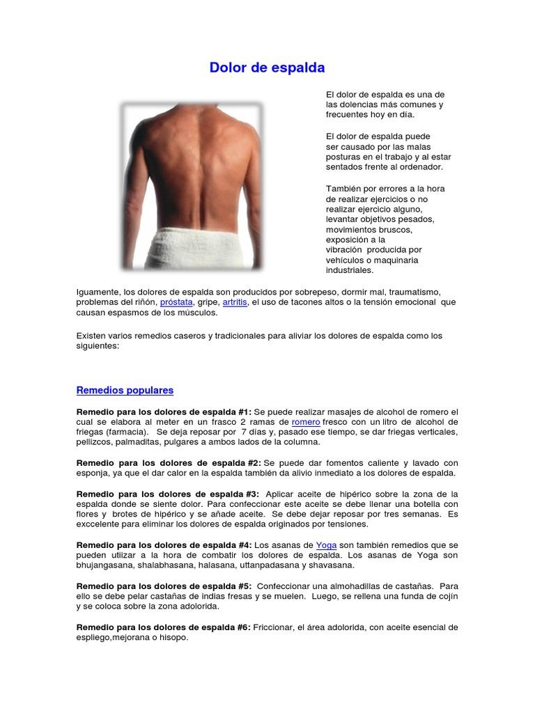 remedios naturales para artritis espalda