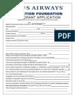 US Airways Grant Application