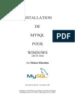 Installation Mysql5 Sous Windows