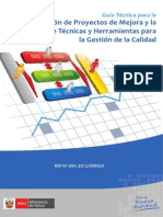 Guía Técnica para la Elaboración de Proyectos de Mejora, RM N° 095 2012 MINSA