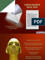 Gianfranco Rondon Carta Escrita en El 2070