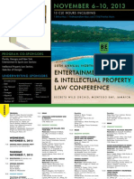 25th Annual North American ENTERTAINMENT, SPORTS AND INTELLECTUAL PROPERTY LAW CONFERENCE Brochure