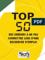 TOP 50 des erreurs à ne pas commettre