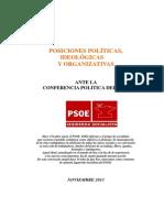 Is-PSOE. CP. Posiciones Politicas. 22-10-2013