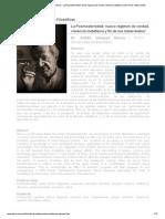 Revista Observaciones Filosóficas - La Posmodernidad; nuevo régimen de verdad, violencia metafísica y fin de los metarrelatos
