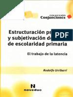 Estructuración psíquica y subjetivación del niño de escolaridad primaria