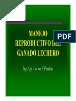 Manejo de La Reproduccion de Ganado Bovino Lechero