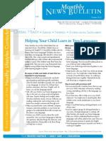 OHU Edgewater CDC Newsletter Oct. 2013