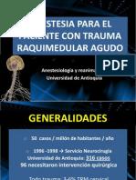 Anestesia en Traumatisco Raquimedular