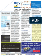 Pharmacy Daily for Mon 28 Oct 2013 - Pharmacy alprazolam alert, Vitamins for kids urged, Sensaslim founder jailed, Standards feedback and much more