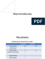 Macromoléculas resultados