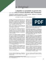 Pneumonias Adquiridas Na Comunidade Em Pacientes Idosos