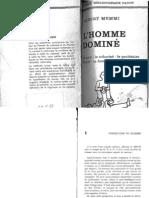 Memmi,1968 Extrait-Description Du Racisme