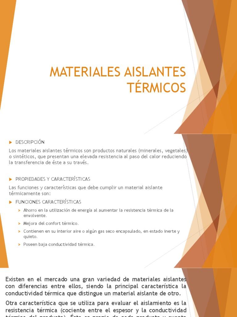 Materiales aislantes t aislamiento t rmico - Materiales aislantes termicos ...