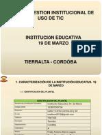 Plan de gestión en  uso de las TIC 19 DE MARZO impri