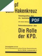 Sozialdemokratische Partei Deutschlands - Kampf dem Hakenkreuz - Die Rolle der KPD