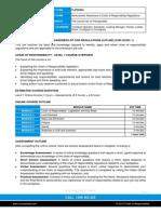 TLIF2092A CoR Level 1 Course Outline