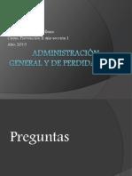 Administración General y de Perdidas