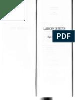 Miguel �ngel P�rez Priego-La edici�n de textos