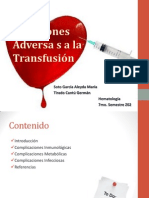 reacciones adversas a la transfucion