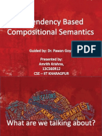Dependency Based Compositional Semantics