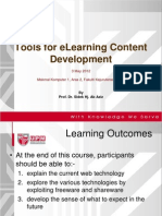 Tools for elearning content Development