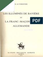 Le Forestier Rene - Les Illumines de Baviere Et La Franc-Maconnerie Allemande