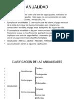 Clasificacion de Las Anualidaes