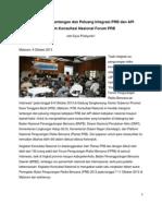 Hasil Diskusi Tantangan dan Peluang Integrasi PRB dan API dalam Konsultasi Nasional Forum PRB