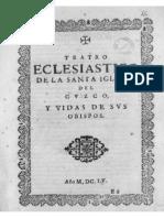 Teatro Eclesiastico de La Primitiva Iglesia de Las Indias Occidentales 101657 Parte