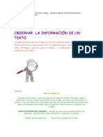 COMPRENSIÓN DE LECTURA DE NIVEL LITERAL