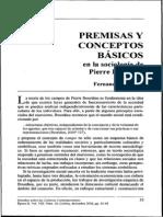 Vizcarra, Fernando. Premisas y conceptos básicos en la sociología de Pierre Bourdieu