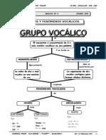 1ER AÑO - LENGUAJE - GUIA Nº3 - GRUPOS Y FENÓMENOS VOCÁLICOS