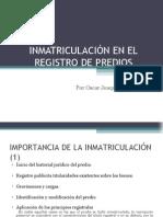 Inmatriculacion Oscar Rivas