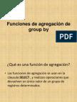Funciones de agregación de