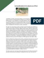 Consecuencias Socioambientales de la minería en el Perú