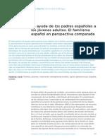 Ayuda d elos padres españoles a los jóvenes adultos (Revista Juventud 90)