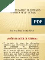 Factor de Potencia,Demanda Pico