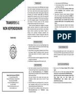 Leaflet Transfer S1 Nonkependidikan 2012