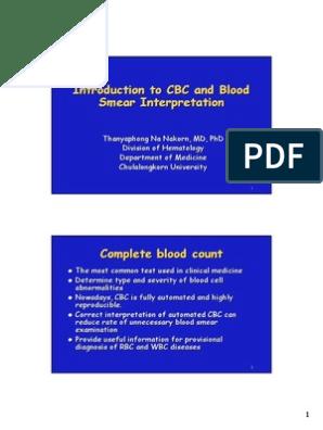 GOOD CBC PRINCIPLE,INTERPRETATION pdf | Anemia | Red Blood Cell