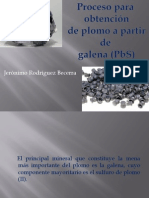 Jeronimo Rodriguez Proceso para la obtención de plomo a partir de galena