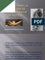 jeronimo Rodriguez Proceso para la obtención de titanio a partir de rutilo