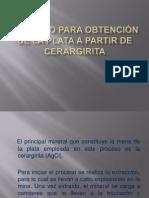 jeronimo Rodriguez Proceso para obtención de la plata a partir de cerargirita