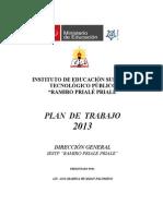 Cronograma de Plan de Trabajo - Direccion 2013