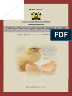 Setting the Pace for Sustainable Growth- Budget Options for 2013/2014 and the Medium Term