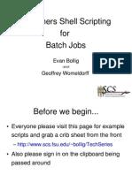 Beginners Shell Scripting