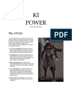 Ki Power (4th Edition Ninja Class Supplement)