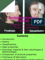 6.Maxillofacial Prosthesis Materials