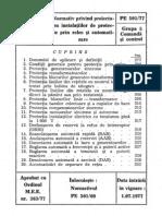 PE 501-1977 - Normativ privind proiectarea instalatiilor de protectie prin relee si automatizare