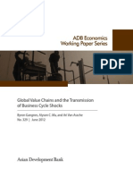 Global Value Chains and the Transmission of Business Cycle Shocks
